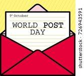 world post day or international ... | Shutterstock .eps vector #726943591