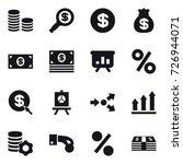16 vector icon set   coin stack ...   Shutterstock .eps vector #726944071