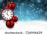 2018 new year background with... | Shutterstock .eps vector #726946639