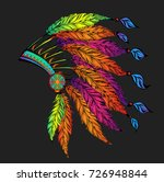 colored roach.indian feather... | Shutterstock .eps vector #726948844