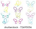 Stock vector hand drawn butterflies in vector format 72695056