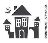 scary house glyph icon ... | Shutterstock .eps vector #726954355