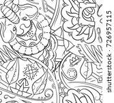 seamless mehndi vector pattern. ...   Shutterstock .eps vector #726957115