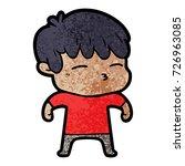 cartoon curious boy   Shutterstock .eps vector #726963085