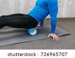 handsome healthy guy doing an... | Shutterstock . vector #726965707