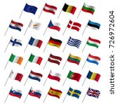european union country flags ... | Shutterstock .eps vector #726972604