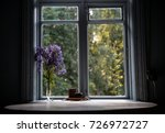 round table by the window in... | Shutterstock . vector #726972727