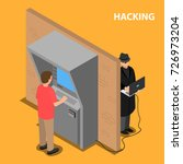 the thief hacks the software... | Shutterstock .eps vector #726973204