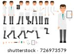 doctor character creation set... | Shutterstock .eps vector #726973579