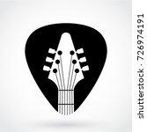 guitar pick logo with guitar... | Shutterstock .eps vector #726974191