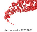 falling red cubes with percent | Shutterstock . vector #72697801