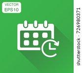 calendar icon. business concept ... | Shutterstock .eps vector #726980371