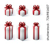 set of gift boxes with bows and ...   Shutterstock .eps vector #726981607