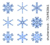 set of decorative snowflakes ... | Shutterstock .eps vector #726982861