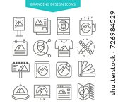 branding design icons set | Shutterstock .eps vector #726984529