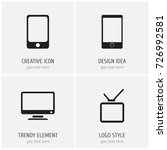 set of 4 editable gadget icons. ...