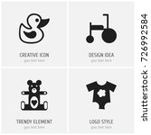 set of 4 editable infant icons. ...
