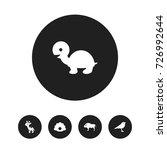 set of 5 editable zoo icons....