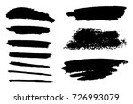 painted grunge set. | Shutterstock . vector #726993079