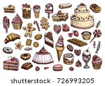 sweet collection of colored... | Shutterstock .eps vector #726993205