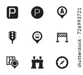 set of 9 editable map icons....