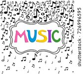music notes background. ... | Shutterstock . vector #726996595