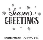 seasons greetings postcard... | Shutterstock . vector #726997141