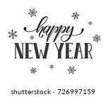 happy new year postcard... | Shutterstock . vector #726997159