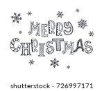 merry christmas postcard... | Shutterstock . vector #726997171