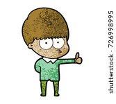 curious cartoon boy giving...   Shutterstock .eps vector #726998995