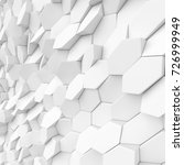 white abstract squares backdrop.... | Shutterstock . vector #726999949