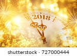 new year clock counting down... | Shutterstock . vector #727000444