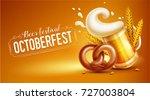 octoberfest festival symbols.... | Shutterstock .eps vector #727003804