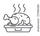 chicken dish grilled roast... | Shutterstock .eps vector #727006381
