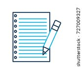 school paper and pencil utensil ... | Shutterstock .eps vector #727009327