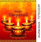 happy diwali background | Shutterstock .eps vector #727013239