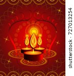 happy diwali background | Shutterstock .eps vector #727013254