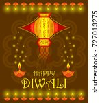 happy diwali background | Shutterstock .eps vector #727013275