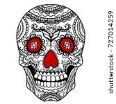 ornate sugar skull | Shutterstock .eps vector #727014259