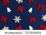 holiday postcard. christmas... | Shutterstock . vector #727018351