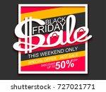 black friday sale. sale banner... | Shutterstock . vector #727021771