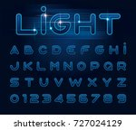 vector of stylized light font... | Shutterstock .eps vector #727024129