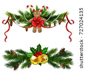 christmas decoration set with... | Shutterstock .eps vector #727024135