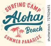 surf camp typography. t shirt... | Shutterstock .eps vector #727024651