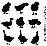 duck silhouette   vector | Shutterstock .eps vector #727024819
