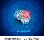 human brain damage and... | Shutterstock .eps vector #727024909