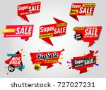 set sale banner collection sale ... | Shutterstock .eps vector #727027231
