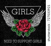 girl need to support girls... | Shutterstock .eps vector #727033921