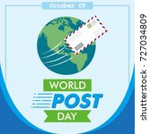 square world post day or... | Shutterstock .eps vector #727034809