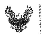 eagle symbol illustration. icon ... | Shutterstock .eps vector #727038385